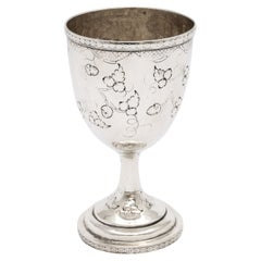 American Coin Silver '.900' Goblet by Peter L. Krider