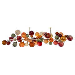 Dionysos Chandelier by Emilie Lemardeley, 21st Century, Gold & Hand Blown Glass