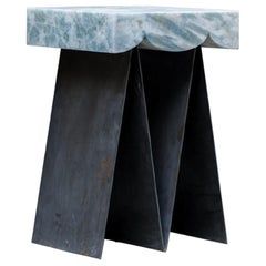 Glacier 01 Contemporary Side Table in Onyx and Steel by Bestia