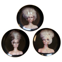 'The Girls' Set of 3 Plates by John Waters, Limited Edition Set of 300