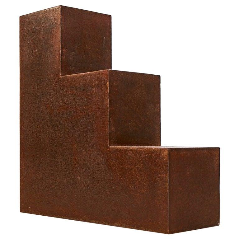 Unique Escalier Metal Side Table by Jean-Baptiste Van den Heede For Sale