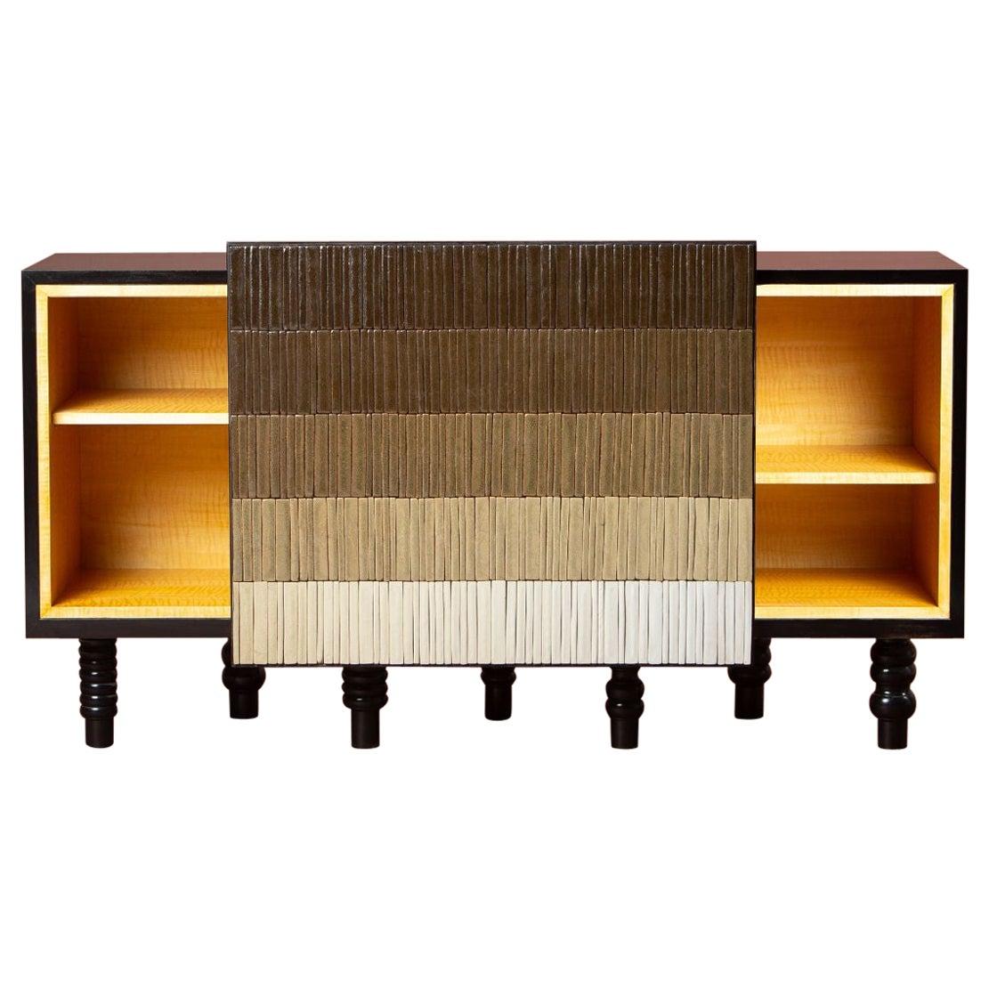 Gradient Cabinet, Brown by Milan Pekař, Jakub Vávra