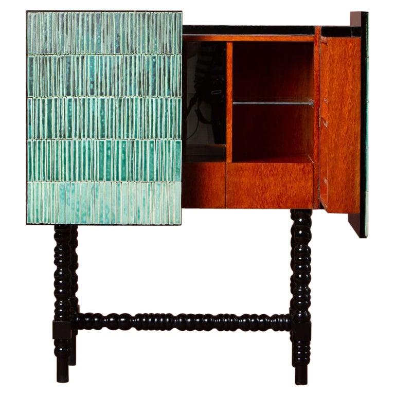 Gradient Cabinet, Green by Milan Pekař, Jakub Vávra For Sale