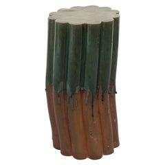 Pillar Stool, Green, Medium by Milan Pekař