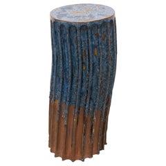 Pillar Stool, Blue, Tall by Milan Pekař