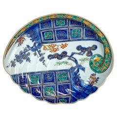 Meiji Period Imari Clam Shell Dish, Attributed to Fukagawa
