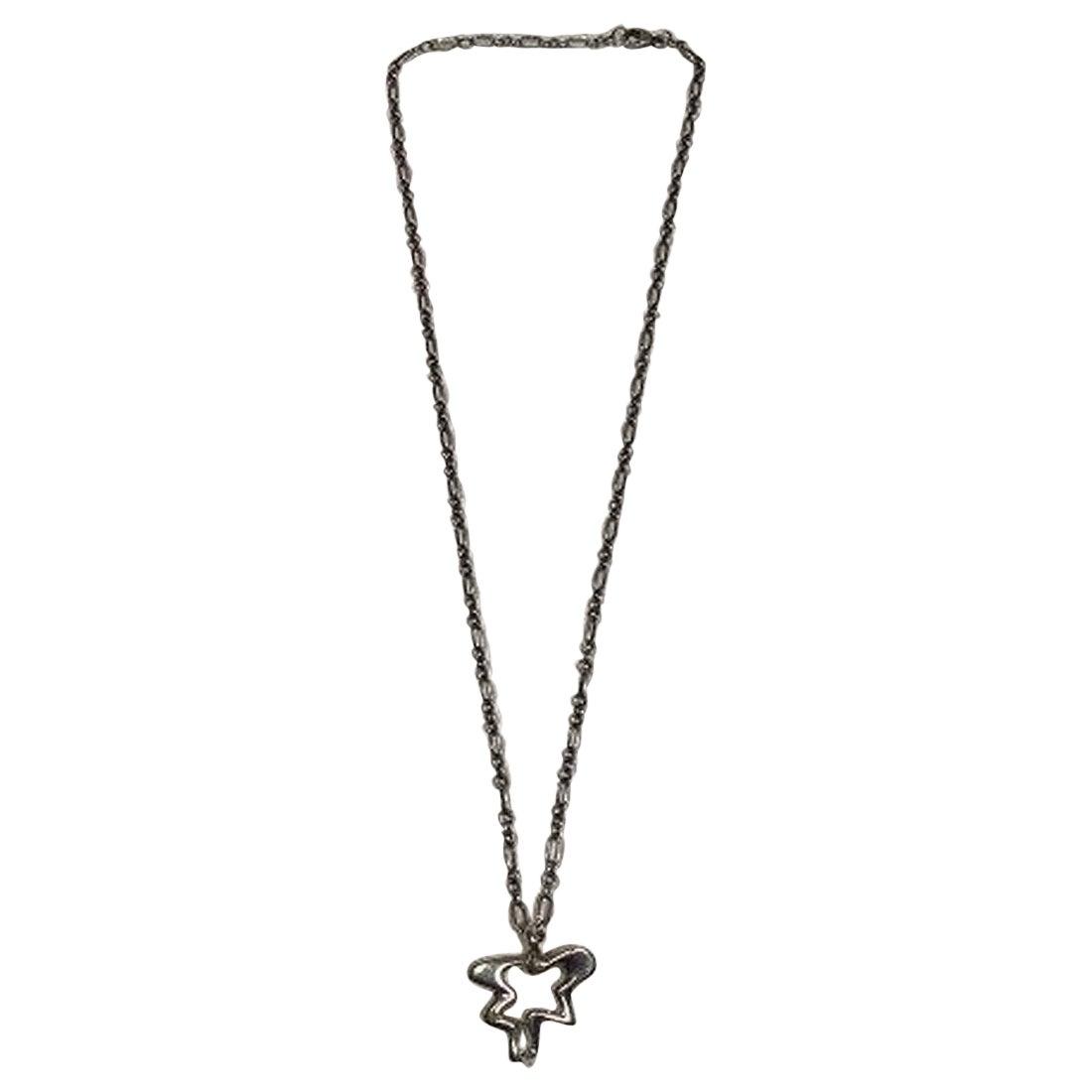Georg Jensen Sterling Silver Necklace with Splash Pendant