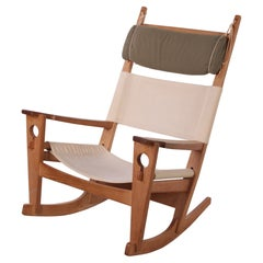 Rocking Chair by H. Wegner for GETAMA Model Ge-673 Oak