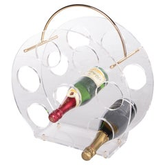 Charles Hollis Jones Style Wine Rack Made of Plexiglas, 1970s