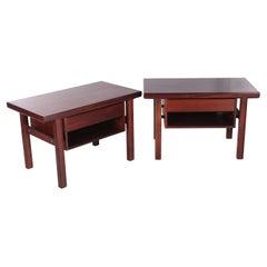 Scandinavian Bedside Tables Set of 2 Arne Vodder, 1960s