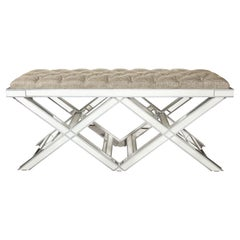 Double Silver Trim Mirrored X-Band Bench