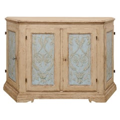 Italian Large-Sized Hand-Painted Wooden Buffet Cabinet, Well Made Vintage Piece