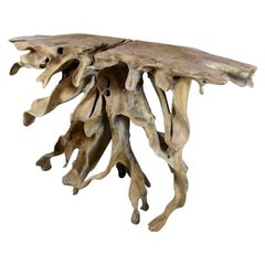 """Teak Root Console Table """"The Flame"""" Organic Modern, 2021"""
