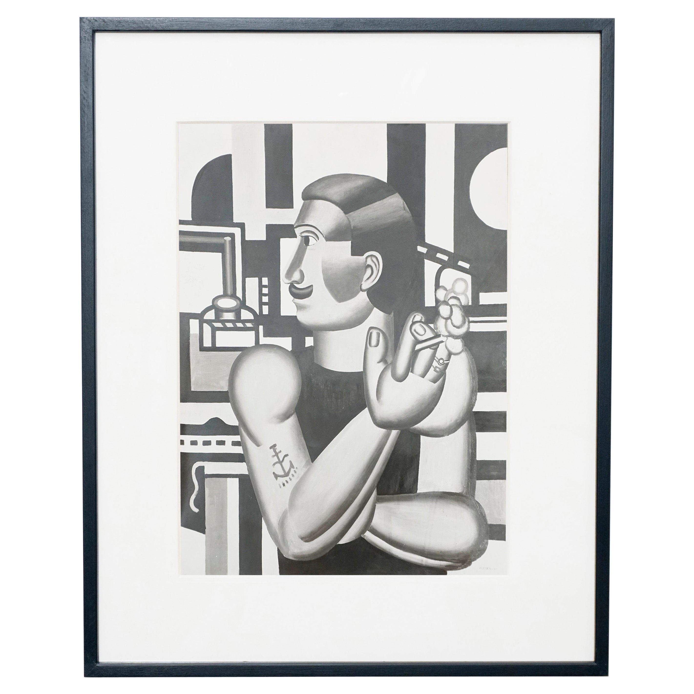 """Fernand Leger """"Le Mecanicien"""" Archive Photography by Louis Carré, 1953"""