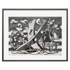 """Fernand Leger """"Romantic landscape"""" Archive Photography, 1969"""