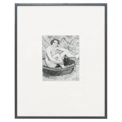 """Marcel Duchamp """"Seated Nude"""" Archive Photography, circa 1970"""