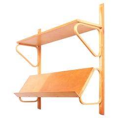 Early Shelf in Birch by Alvar Aalto for Aalto Möbler, Hedemora, Sweden