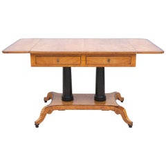 Scandinavian Karl Johan Birch Writing Table from the Estate of Alfred Grenander