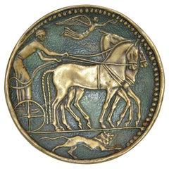 Original Max Le Verrier Art Deco Bronze Catchall, Bowl, Videpoche France, 1930