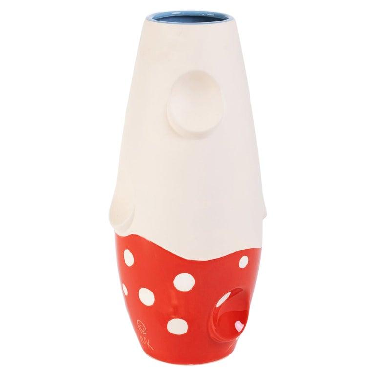Oko Pop Ceramic Vase, Mushroom by Malwina Konopacka For Sale