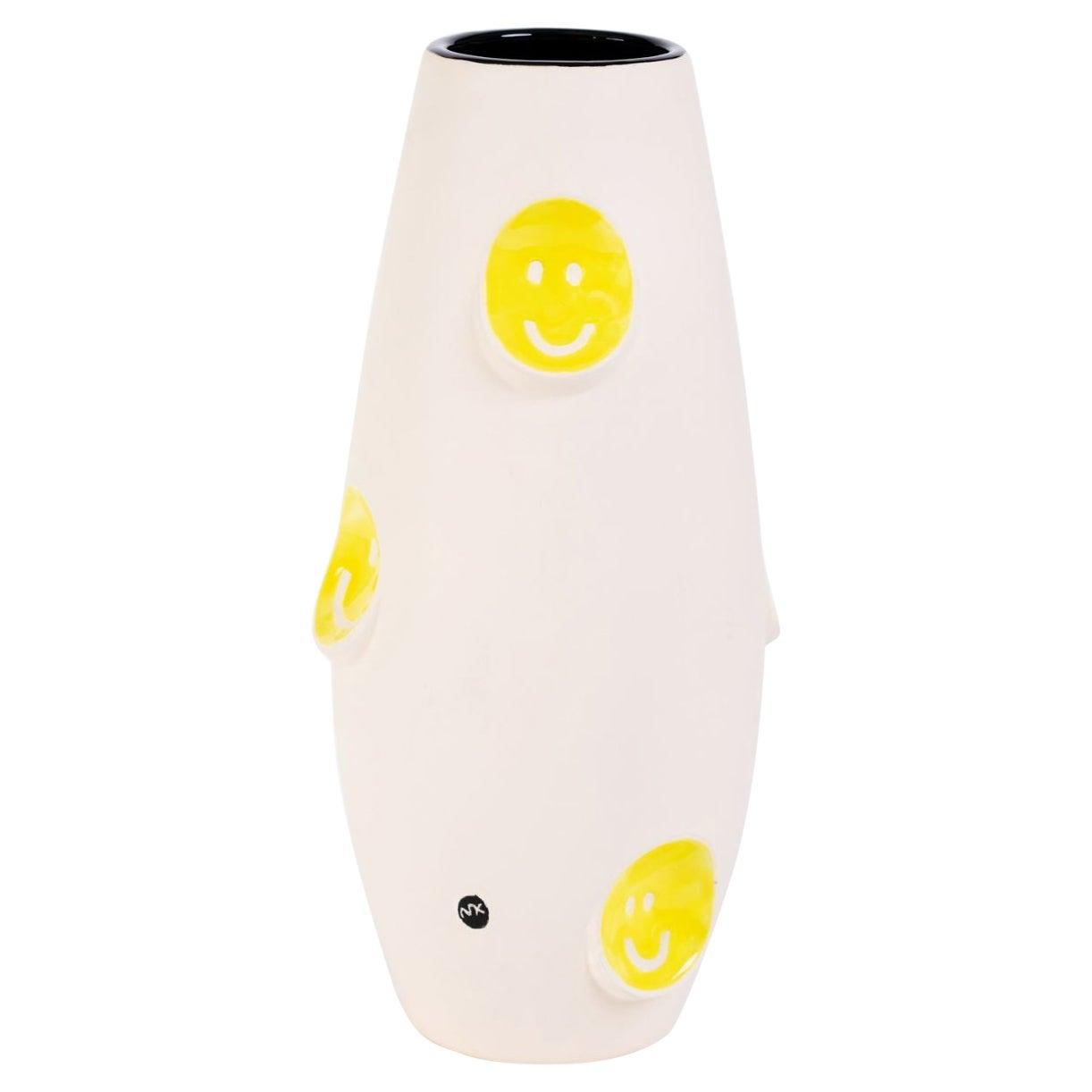 Oko Pop Ceramic Vase, Smiley by Malwina Konopacka
