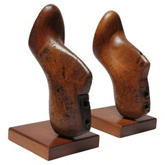 Pair of Vintage Western Last Co, Women's Shoe Mold Bookends