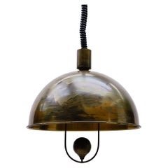 Brass Pendant Lamp by Florian Schulz, 1970s, Germany