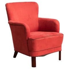 Danish 1950's Lounge Chair Attributed to Peter Hvidt & Orla Mølgaard-Nielsen