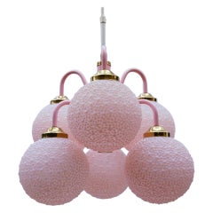 Stunning Pink Space Age Orbit Lamp, 1960s