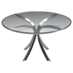 Xavier Féal Table in Glass and Steel