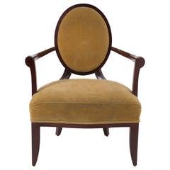 Sumptuous Barbara Barry Regency Style Mahogany Arm Chair