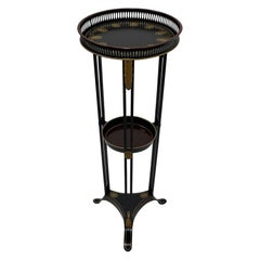 Elegant Regency Style Painted Tole & Iron Two Tier Side Table