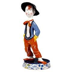 Wiener Werkstaette Expressive Ceramic Figure 'Street Boy', by Susi Singer, 1923