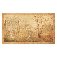 Large Vintage Italian Wall Tapestry. Size: 11 ft x 19 ft (3.35 m x 5.79 m)