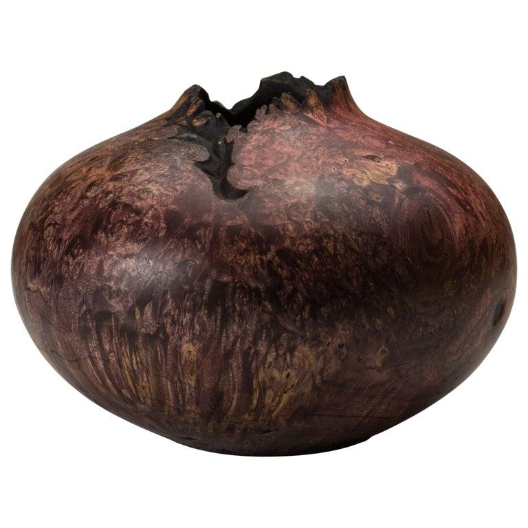 Boxelder Burl Hollow Form by Vlad Droz For Sale