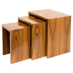 Rosewood Nesting Tables with Star inlay