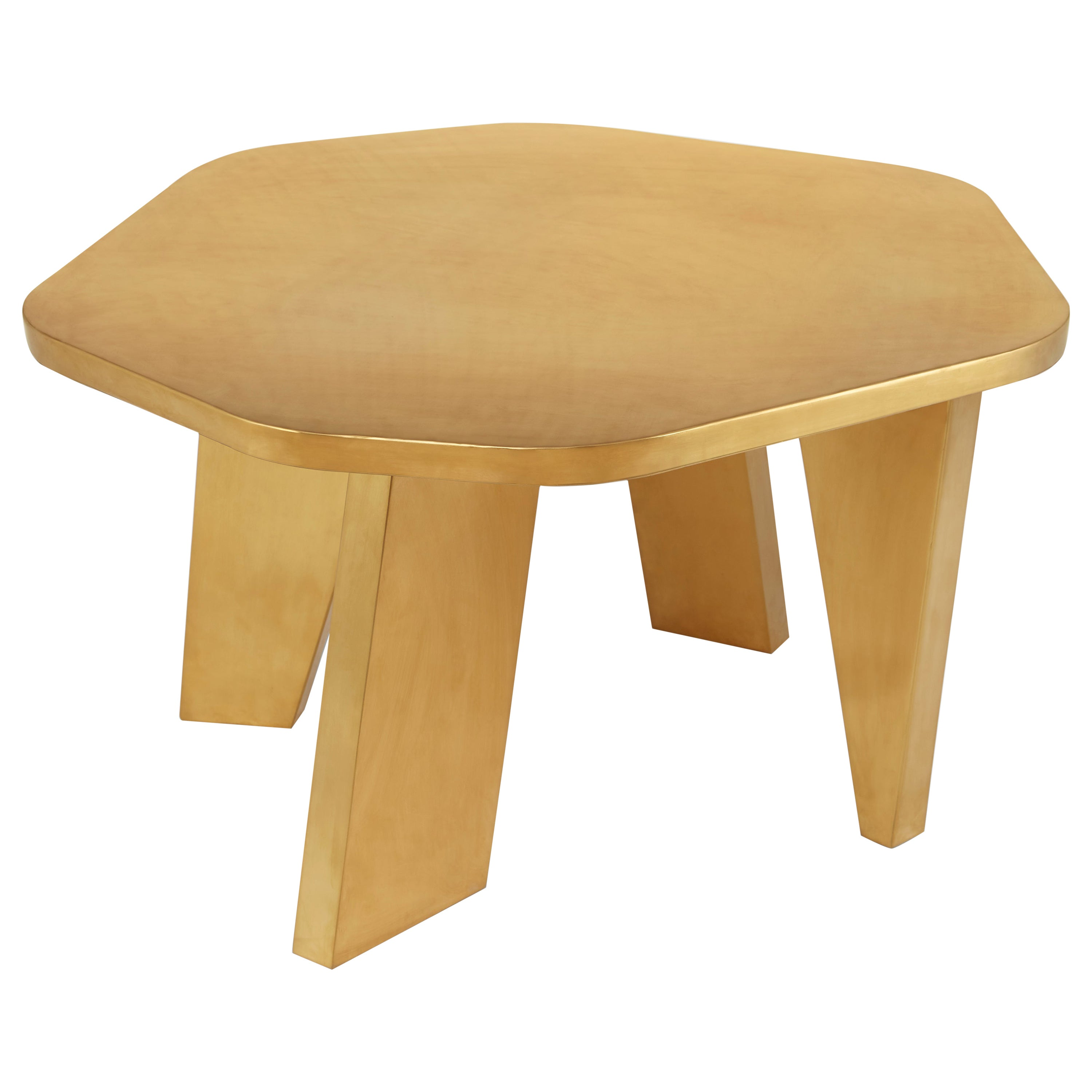 Gold Center Table by Saumil Suchak