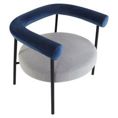 Unique Krest Lounge Chair Black by Saumil Suchak