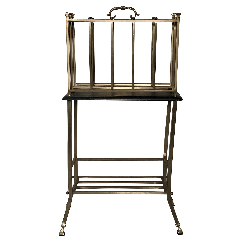 Hand-Made Steel Standing Magazine Rack