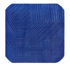 Hand Knotted Line Rug by Saumil Suchak