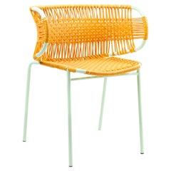 Honey Cielo Stacking Chair with Armrest by Sebastian Herkner