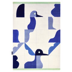 Hand Knotted Birds Rug by Saumil Suchak