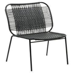 Black Cielo Lounge Low Chair by Sebastian Herkner