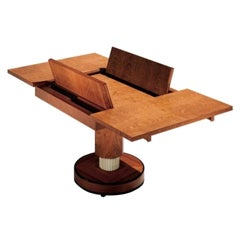 Massimo Scolari for Giorgetti S.p.A. Extendable Ur Table, Fluted Pedestal Base