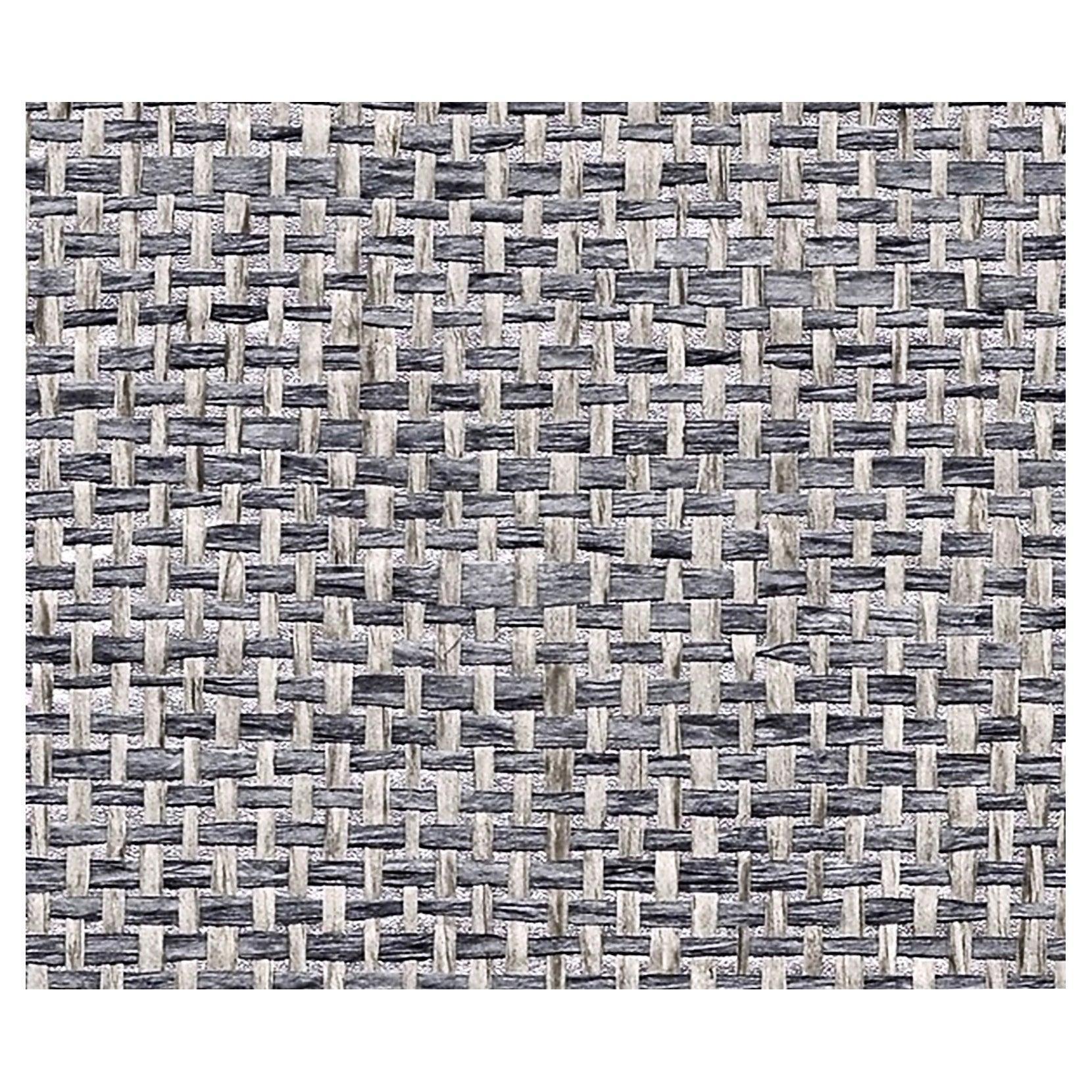 Phillip Jeffries Metallic Paper Weaves Hand-made Grasscloth Wallpaper, Lead