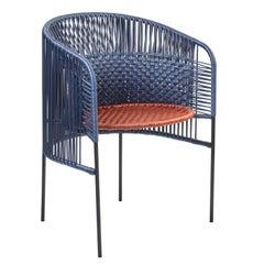 Blue Caribe Chic Dining Chair by Sebastian Herkner