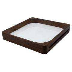 Medium White Walnut Square Tray
