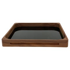Large Green Walnut Square Tray, in Stock