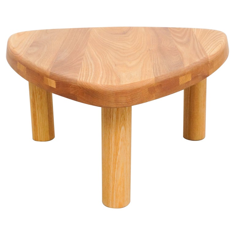 Pierre Chapo T23 Solid Elm Wood Formalist Side Table For Sale