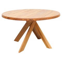 Pierre Chapo Dining Table, Solid Elmwood